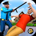 Police Hero Neighbor Rescue Icon