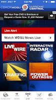 Screenshot of WDSU Hurricane Central
