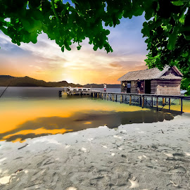 Peacefull beaches by Indrawan Ekomurtomo - Digital Art Places