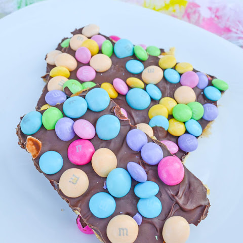 Easter M&Ms Candy Bark