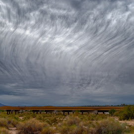 Cirrus Fibratus by Charlie Alolkoy - Landscapes Weather ( clouds, weather, rain )