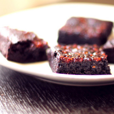 Brownies with Raspberry Jam