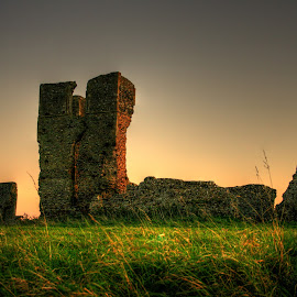 Bawsey Sunset by Kelly Murdoch - Buildings & Architecture Public & Historical ( ztam photography, sunset, norfolk, kings lynn, bawsey ruins, HDR, Landscapes )