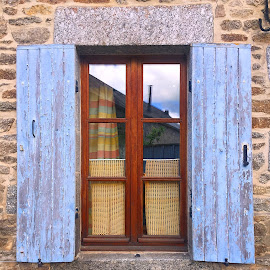 Window by Dobrin Anca - Buildings & Architecture Architectural Detail ( sky, green, street, window, brittany )