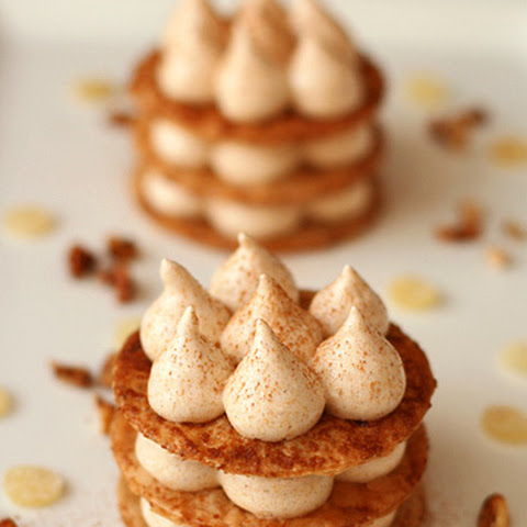 Caramelized Phyllo and Pumpkin Marshmallow Napoleons