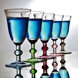 5 Colour Glass by Peter Salmon - Artistic Objects Glass