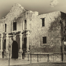 Remember by Paul Frese - Buildings & Architecture Public & Historical ( history, alamo, church, mission, mexico, texas, san antonio, night, ghost, war )
