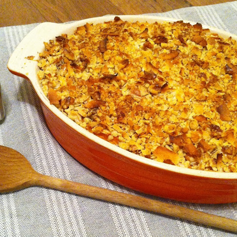 Walnut & Coconut Whipped Sweet Potato Casserole