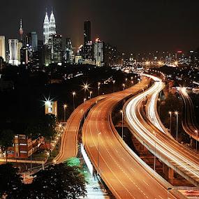 City Light - Kuala Lumpur by Abd Rahman - City,  Street & Park  Vistas