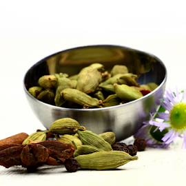 Green Cardamom by Dipali S - Food & Drink Ingredients ( green cardamom, diversity, healthful, aromatic, appetizing, colorful, spice, powder, indian, delicious, kitchen, tasty, seasoning, fragrant, colourful, season, herb, food, hot, healthy, freshness, ingredient, additives )