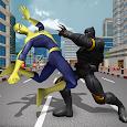 Monster Hero vs Flying Spider Hero Survival Game