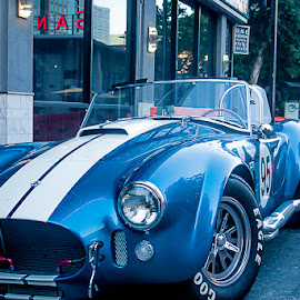 Shelby Cobra Front Quarter by Kristopher Acevedo - Transportation Automobiles ( blue, cars, racer, ford, cobra )