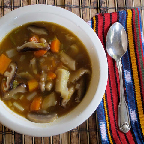 Mixed Mushroom And Veggie Soup
