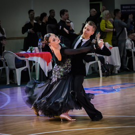 by Kristina Nutautiene - Sports & Fitness Other Sports ( dancer, dancing, ball, black, dance )