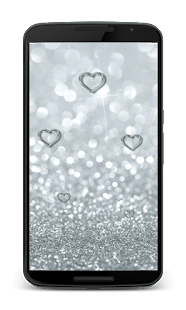 Silver Hearts Wallpaper - screenshot