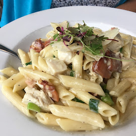 Pasta Cabonara by Dawn Simpson - Food & Drink Plated Food ( cabonara, pasta, eating out, restaurants, italian )