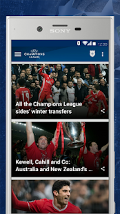 App UEFA Champions League APK for Kindle