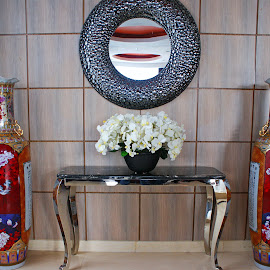 Inside Hotel by Mulawardi Sutanto - Artistic Objects Furniture ( bukittinggi, ruangan, cakep, hotel, sumatera, travel, table )