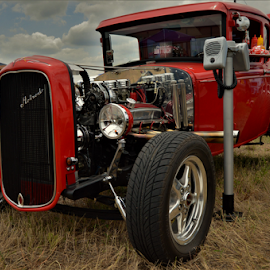 Red Rider by Benito Flores Jr - Transportation Automobiles ( red, car, temple, texas, car show )