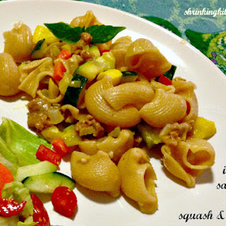Spicy Italian Sausage with Squash & Shells