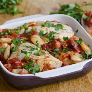 Simple Tuscan Chicken and White Beans