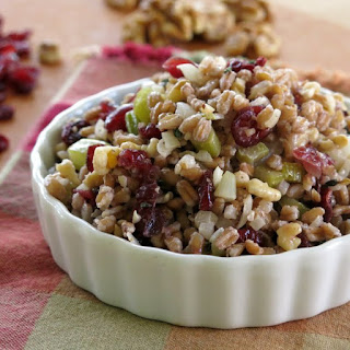 Farro Stuffing with Cranberries and Walnuts