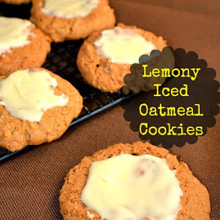 Lemony Iced Oatmeal Cookies