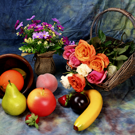 by Dipali S - Artistic Objects Still Life ( bouquet, vase, still life, fruits, roses, spring )