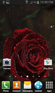 Red Rose Magic LWP - screenshot