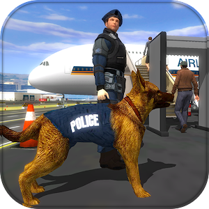 Police Dog Airport Crime Chase Icon