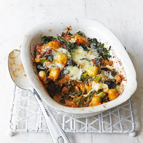Sausage And Kale Gnocchi Bake