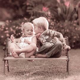 No Kisses Please! by Pierre Vee - Babies & Children Children Candids