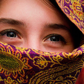 Veiled Beauty by Josh Mayes - People Portraits of Women ( face, woman, beauty, veil, eyes )