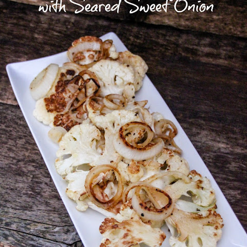 Pan Roasted Cauliflower with Seared Sweet Onion