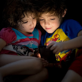 Phone Light by Mike DeMicco - Babies & Children Child Portraits