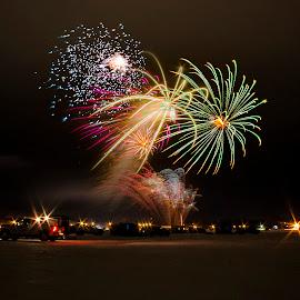 Frozen Fireworks by Chris Olson - Abstract Fire & Fireworks ( frozen fireworks, fireworksoverlake, fireworks, fire works, polarfest )