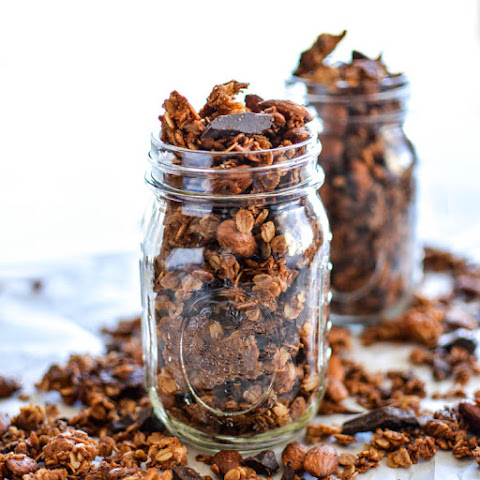 Coconut Almond Granola with Dark Chocolate Chunks