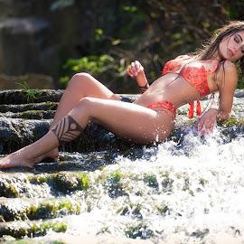 by Luis Nunes - People Fashion ( glamour, model, fashion, makeup, waterfall, beauty, fashion photography, bikini,  )