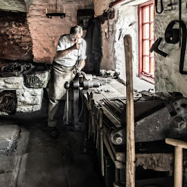by John McCullough - People Street & Candids ( blacksmith, co. down, window light, forge )