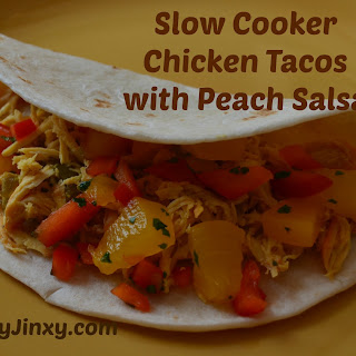 Slow Cooker Chicken Tacos with Peach Salsa