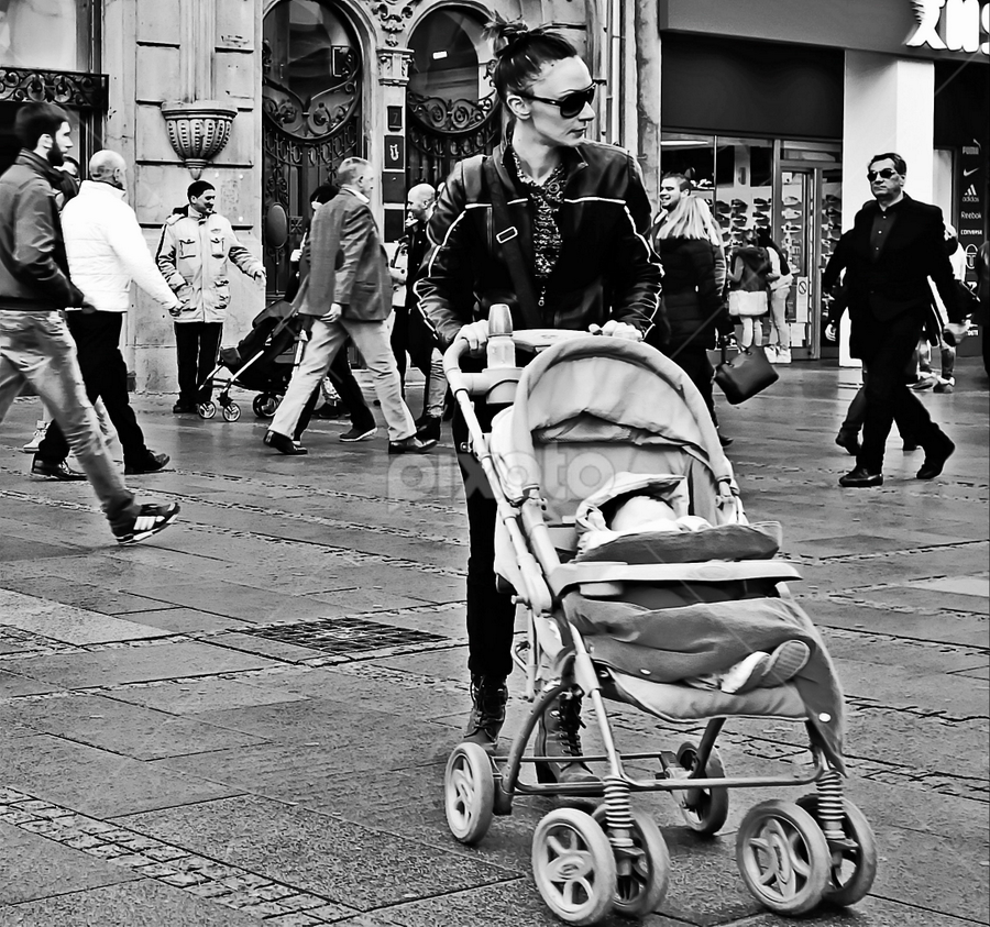 by Dragana Jankovic - Black & White Street & Candid ( city life, candid, street scene, street, belgrade, black and white, street photography )