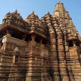 Built patiently by Srivenkata Subramanian - Buildings & Architecture Architectural Detail ( history, temples, old, khajuraho, india, kings )
