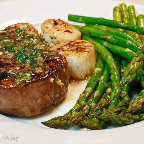 Scampi-Style Steak & Scallops