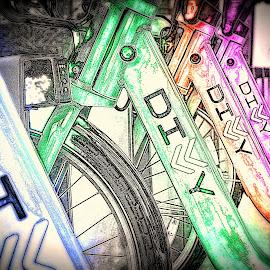 divvy by Fraya Replinger - Digital Art Things ( cycle, divvy, bike, colors, bicycle )