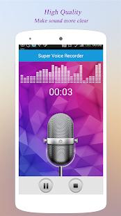 Super Voice Recorder APK for Bluestacks