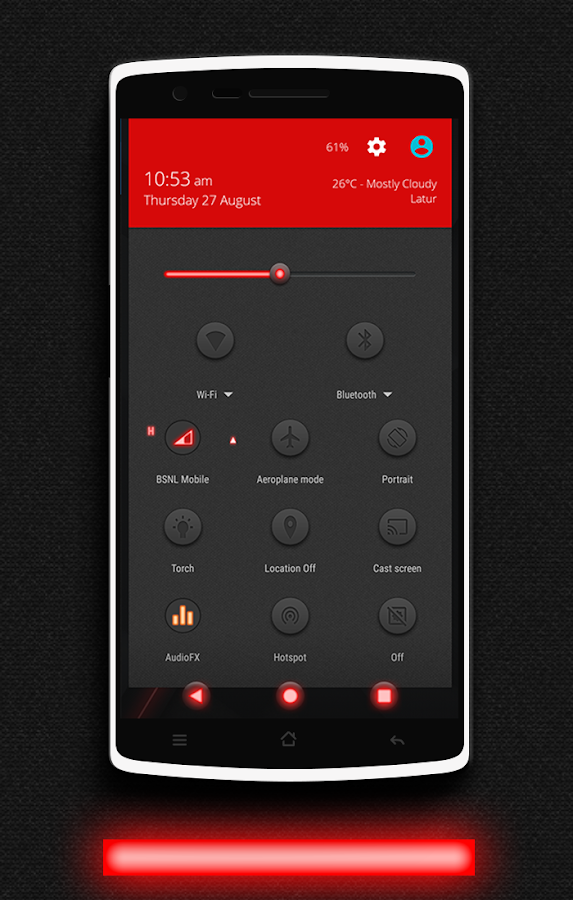 Glow Red CM13 CM12/12.1 Theme Screenshot 1