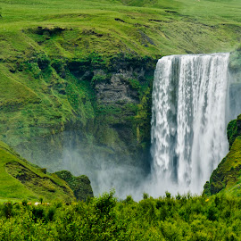 Skógafoss by Stanley P. - Landscapes Waterscapes ( water, waterscape, waterfall, landscape )
