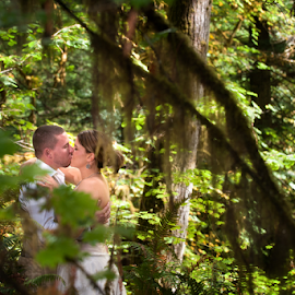 by Melissa Papaj - Wedding Bride & Groom ( redwoods, wedding photography, oregon wedding, wedding, forest, wedding photographer, utah wedding photographer, redwood wedding, california wedding, destination weddings )