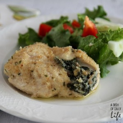Goat Cheese Stuffed Chicken with Spinach and Proscuitto