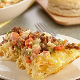 Cheesy Sausage and Potato Skillet Casserole